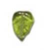 Glass Bead Leaf 10x9mm Olivine Strung